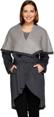 Halston H By H by Double Face Shawl Collar Coat