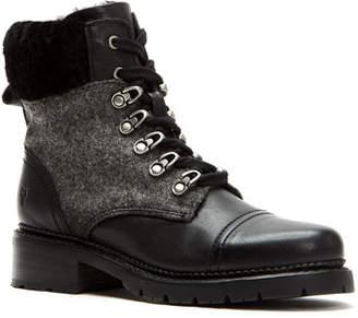 Frye Samantha Fur-Trim Hiker Boots