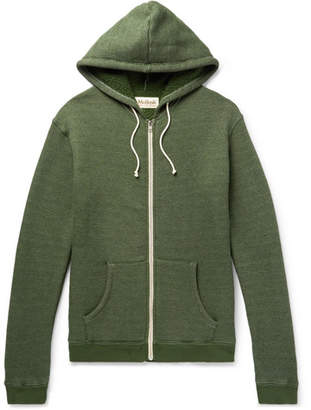 Mollusk Loopback Mélange Stretch Cotton-Blend Jersey Zip-Up Hoodie