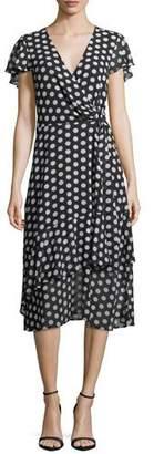 MICHAEL Michael Kors Simple Dot Wrap Dress