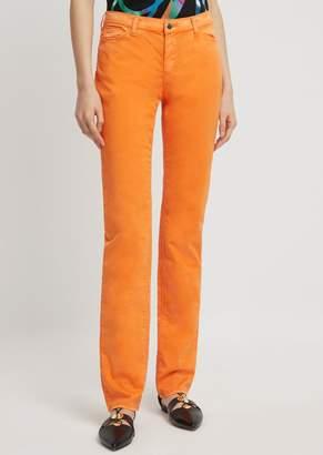 Emporio Armani Garment-Dyed Straight-Slim-Fit J85 Jeans In Comfort Gabardine