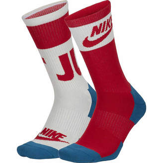 Nike Men's Sportswear 2 Pair Crew Socks - Extended Sizes