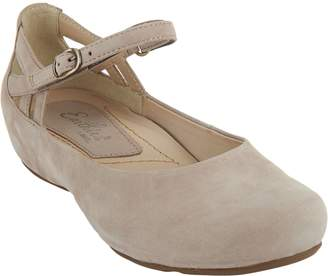 Earth Earthies Suede Flats with Ankle Strap - Capri