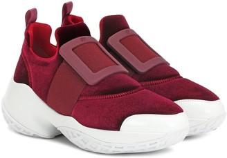 Roger Vivier Exclusive to Mytheresa Viv Run velvet sneakers