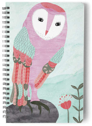 Whimsical Owl Self-Launch Notebook