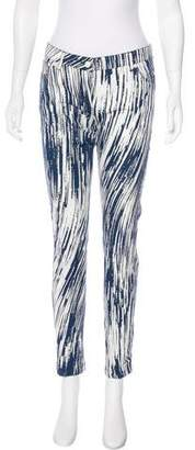 Kenzo Mid-Rise Coated Jeans
