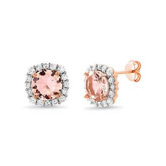 Inspired By You Cushion-Cut Pink Stud Earrings