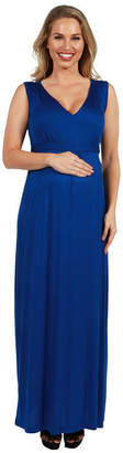 24/7 Comfort Apparel Island Fire Maxi Maternity Dress