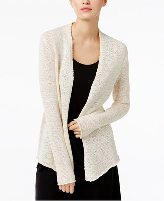 Eileen Fisher Organic Cotton-Blend Open-Front Cardigan $218 thestylecure.com