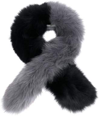 CHARLOTTE SIMONE two-tone scarf