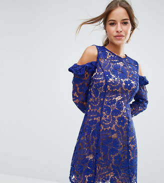 Asos Lace Cold Shoulder Shift mini dress