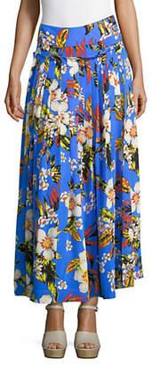 Diane von Furstenberg Silk Gathered Maxi Skirt