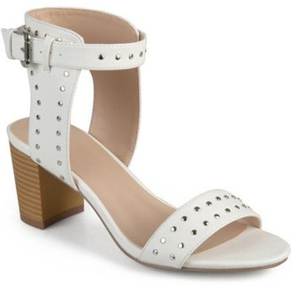 Co Generic Brinley Womens Faux Leather Studded Ankle Strap High Heel