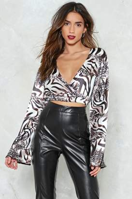 Nasty Gal Wild is the Wind Animal Print Crop Top