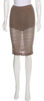Opening Ceremony Linen-Blend Knee-Length Skirt