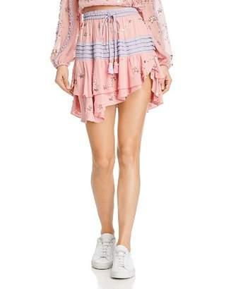 Rococo Sand Embellished Tiered Mini Skirt