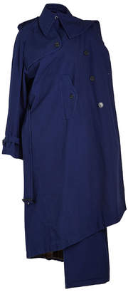 Balenciaga Draped Cotton Trench Coat
