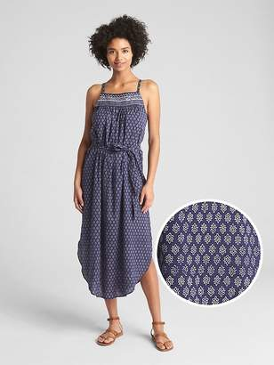 Gap Block-Print Cami Midi Dress