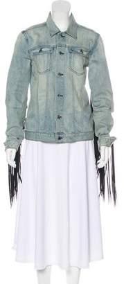 BLK DNM Tassel-Trimmed Denim Jacket