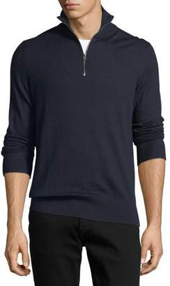 Burberry Rawlins Cashmere-Blend Sweater, Navy