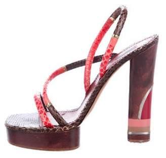Marc Jacobs Snakeskin Platform Sandals