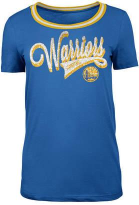 5th & Ocean Women's Golden State Warriors Crew Trim T-Shirt