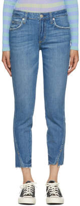 Amo Blue Frayed Twist Jeans