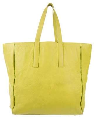 Calvin Klein Collection Grained Leather Tote
