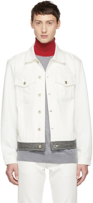 Band Of Outsiders White Check Denim Jacket