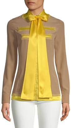 Givenchy Women's Ribbon Button-Down Shirt