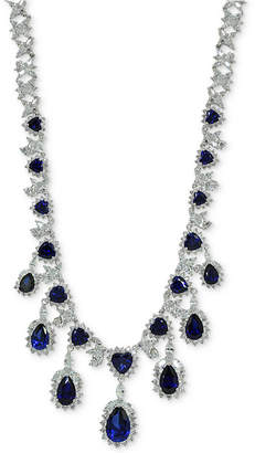 "Giani Bernini Cubic Zirconia 18"" Statement Necklace in Sterling Silver"