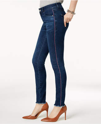 INC International Concepts I.n.c. Curvy-Fit Racing-Stripe Skinny Jeans