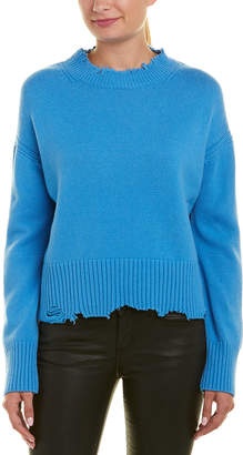 Helmut Lang Distressed Wool & Cashmere-Blend Sweater