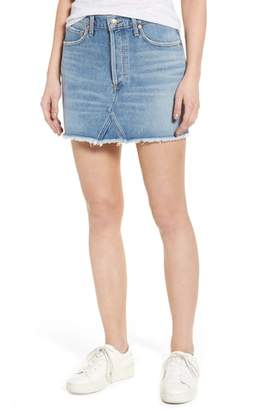 A Gold E AGOLDE Quinn High Waist Denim Miniskirt