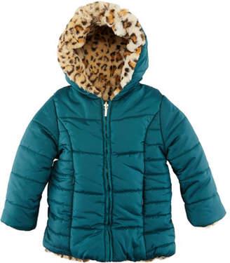Mayoral Reversible Cheetah-Print Faux-Fur Coat, Size 12-36 Months