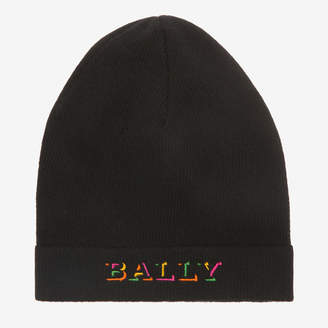 Bally Logo Embroidered Beanie Hat