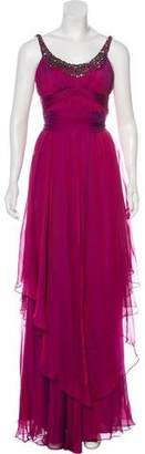 Teri Jon Silk Evening Dress
