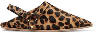 Nanushka - Sao Leopard-print Calf Hair Point-toe Flats - Leopard print