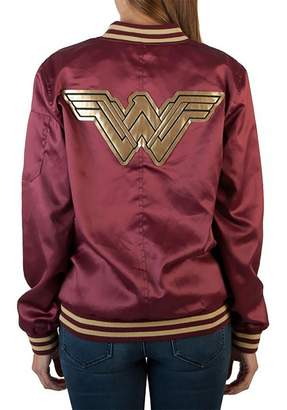 Bioworld Officially Licensed Ladies DC Comics Wonder Woman Logo Bomber Jacket