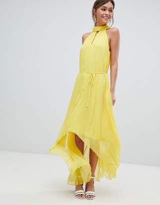 Ted Baker Pleated Collar Maxi Dress