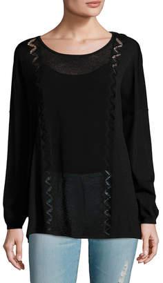 Sandro Mesh Paneled Sweater