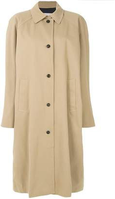 Push Button oversized trench coat