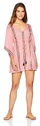 Oasis Wild Beachwear Women's Swimwear Block Printed Elastic Empire Cover Up Kaftan
