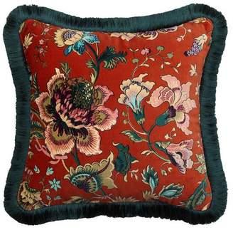 Majorelle House of Hackney Medium Velvet Fringed Cushion
