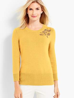 Talbots Beaded Corsage Sweater