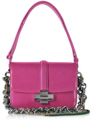 N°21 N.21 N21 Fuchsia Leather Lolita Bag