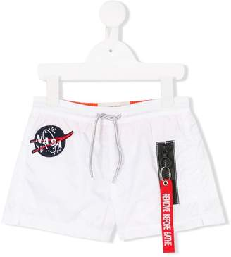MC2 Saint Barth Kids nasa patch swim shorts