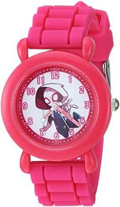 Marvel Girl's Super Hero' Quartz Plastic and Silicone Watch