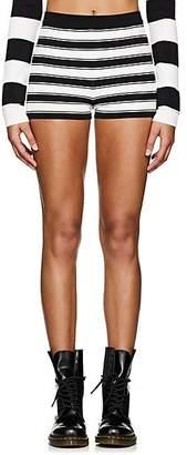 Marc Jacobs Women's Striped Compact Knit Shorts - Black Pat.