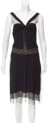 Nina Ricci Sleeveless Lace Cocktail Dress